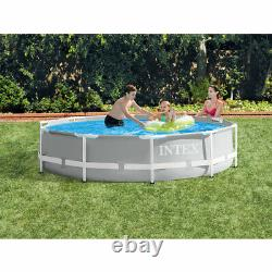 Intex Prism Frame Above Ground Swimming Pool with 330 GPH Filter Pump (2 Pack)
