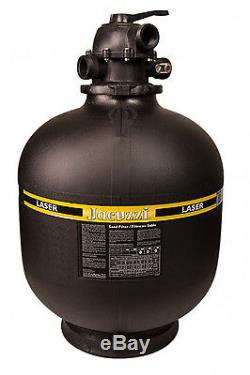 Jacuzzi Laser 19 Inch Above Ground Swimming Pool Sand Filter with 6-Way Valve