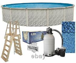 Lake Effect Meadows Round Above Ground Swimming Pool, Liner, Filter System Kit