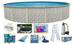MEADOWS Above Ground Steel Wall Swimming Pool with Liner Ladder Filter Package