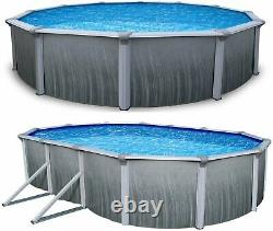 Martinique 52 Tall Steel Above Ground Pool Kit plus Starter Package