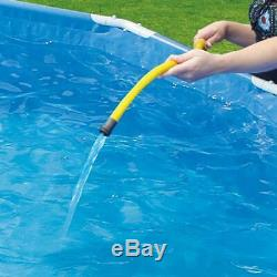 Metal Frame 15 x 33 Above Ground Swimming Pool Set With SkimmerPlus Filter Pump