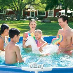 Metal Frame Above Ground Swimming Pool Set 15' x 33 Large Family with Filter Pump
