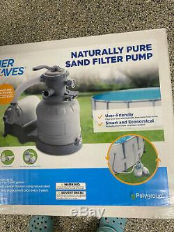 NEWSummer Waves Naturally Pure Sand Filter Pump Above ground pools UP to 18