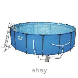 NEW Bestway 15' x 48 Round Steel Pro MAX Above Ground Swimming Pool Set With Pump