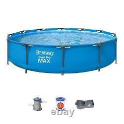 NEW Bestway Frame Steel Pro MAX Above Ground Pool Set 12 x 30 with Filter Pump
