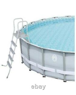 NEW Coleman Power Steel 22' x 52 Above Ground Swimming Pool, With Pump & Ladder