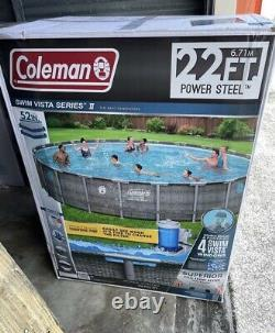 NEW Coleman Swim Vista II 22ft x 52in Above Ground Pool Set LOCAL ONLY