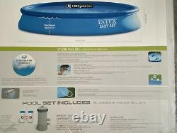 NEW Intex 15' x 33 Easy Set Above Ground Swimming Pool w Filter Pump 28157EH