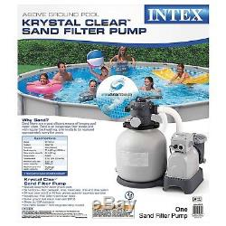 NEW! Intex Krystal Clear Pool Sand Filter Pump For Above Ground Swimming Pools