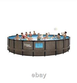 NEW Summer Waves 22ft x 52in Above Ground Swimming Pool With Pump, Ladder, & Cover