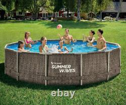 NEW Summer Waves Active Frame 14ft x 36in Above Ground Pool with Filter Pump