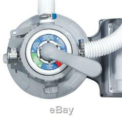 Pool Sand Filter Pump with GFCI for Above Ground Swimming Pools Outdoor 10
