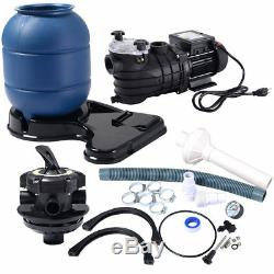 Pro 2450GPH 13 Sand Filter Above Ground 10000GAL Swimming Pool Pump Home Garden
