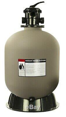 Radiant Sand Filter with Valve for Above Ground or Inground Pool (Various Sizes)