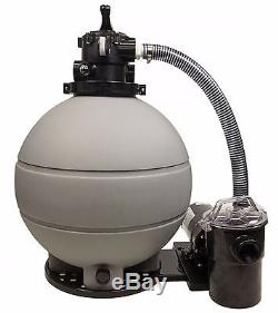 Rx Clear Patriot 22 Above Ground Swimming Pool Sand Filter system with with Pump