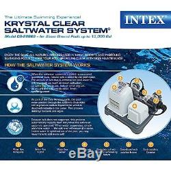 Salt Water Pool System Above Ground Swimming Pool Filter Pump Treatment safe ECO