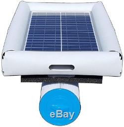 Solar Powered Pool Pump 5,000 gal. 28 lbs. Floating Cartridge Filter System