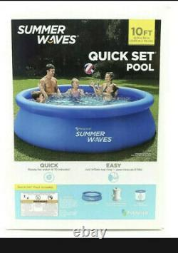 Summer Waves 10' X 30 Quick Set Above Ground Round Pool with Filter Pump