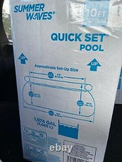 Summer Waves 10'x30 Quick Set Inflatable Ring Above Ground Pool with Filter Pump