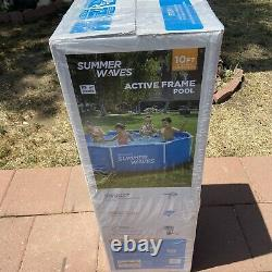 Summer Waves 10ft X 30in Active Metal Frame Above Ground Pool with Filter Pump