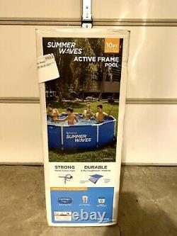 Summer Waves 10ft x 30 Active Metal Frame Above Ground Pool with Filter Pump NEW