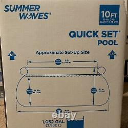 Summer Waves 10ft x 30in Quick Set Above Ground Pool with Filter Pump IN-HAND