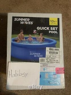 Summer Waves 10x30Above Ground Inflatable Ring Pool WithFilter, Pump (FREE SHIP)