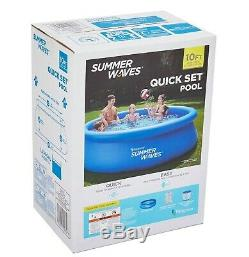 Summer Waves 10x30 Inflatable Above Ground Swimming Pool with Filter Pump