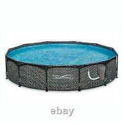 Summer Waves 12ft x 33in Round Above Ground Frame Pool with Filter Pump (Used)