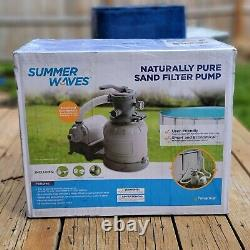 Summer Waves 1400 GPH Gallon Hour Sand Filter Pump Above Ground Swimming Pool
