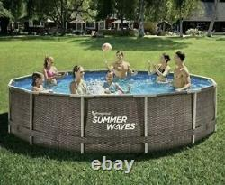 Summer Waves 14 ft x 36 inch Active Frame Above Ground Pool With Filter Pump