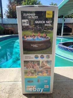 Summer Waves 14' x 36 Quick Set Above Ground Swimming Pool with Filter Pump