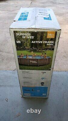 Summer Waves 14ft x 36in Active Frame Pool Above Ground with Filter, Pump, Ladder