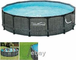 Summer Waves 14ft x 48in Round Above Ground Outdoor Frame With Filter and Ladder