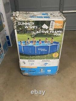 Summer Waves 15ft Active Frame Above Ground Swimming Pool with Filter READ DISC