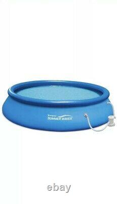Summer Waves 15ft x 36in Quick Set Above Ground Swimming Pool with Filter Pump