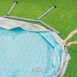 Summer Waves 16ft x 48in Elite Metal Frame Above Ground Pool Set with Filter Pump