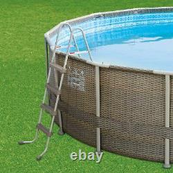 Summer Waves 22ft x 52in ELITE Above Ground Swimming Pool With Pump Ladder & Cover