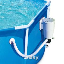Summer Waves 8' Metal Frame Above Ground Family Swimming Pool Set with Filter Pump