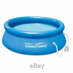 Summer Waves 8in x 8in x 2.5ft Inflatable Above Ground Pool with Filter Pump