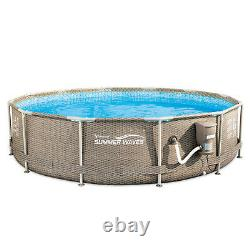 Summer Waves Active 12ft x 30in Above Ground Frame Pool with Filter (Used)