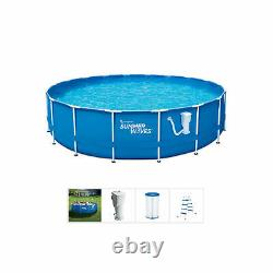 Summer Waves Active 14' Metal Frame Above Ground Pool w Filter Pump (Open Box)