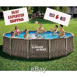 Summer Waves Active Frame 14ft x 36in Above Ground Pool Filter Pump NEW In Hand