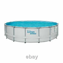 Summer Waves Elite 14Ft Metal Frame Above Ground Pool with Filter Pump (Open Box)