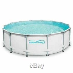 Summer Waves Elite 14ft x 42 METAL FRAME Above Ground Pool With Filter Pump