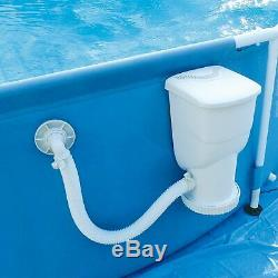 Summer Waves Metal Frame Set Above Ground Swimming Pool+Filter Pump+SOLAR Cover