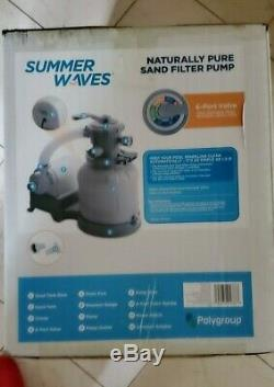Summer Waves Naturally Pure Sand Filter Pump -Above ground pools UP to 18' x 52
