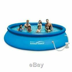 Summer Waves Quick Set Pool 10 ft x 30 Inflatable Above Ground with Filter Pump