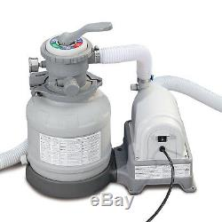 Summer Waves Swimming Pool Sand Electric Filter Pump GFCI Filtration Outdoor NEW